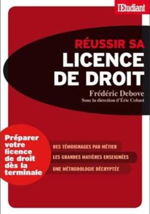 réussir sa licence en droit, éditions de l'étudiant